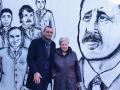 Rita Borsellino e Giuseppe Schena Murale Borsellino Carpi