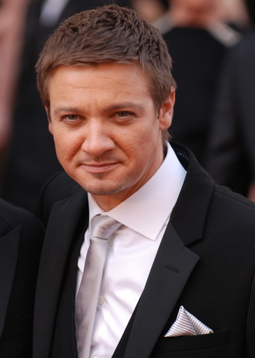 """Jeremy Renner arrives at the 82nd Academy Awards March 7, 2010 in Hollywood. He was nominated for best actor for his portrayal of Sgt. 1st Class William James, an intense Explosive Ordnance Disposal team leader in """"The Hurt Locker."""""""