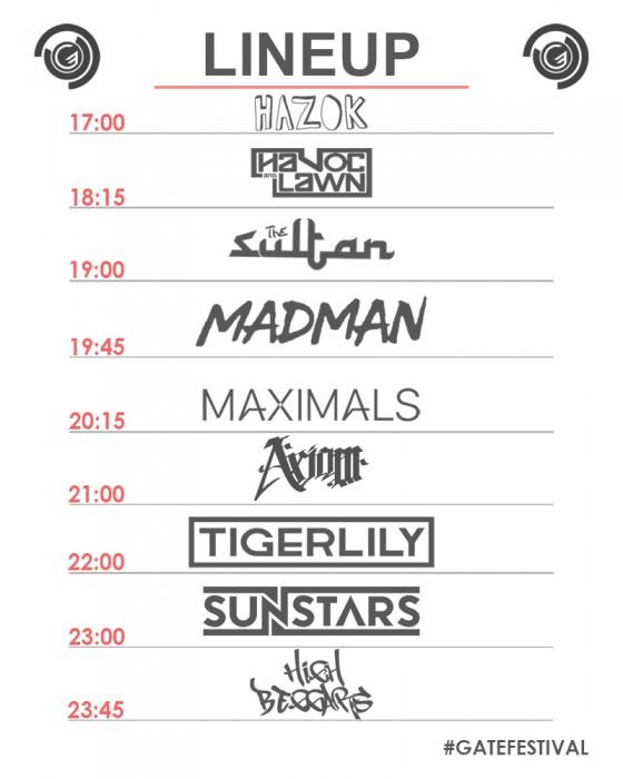 LineUp Gate Festival 2017