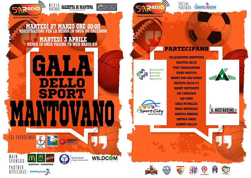 Gala dello Sport Mantovano 2018 fronte e retro