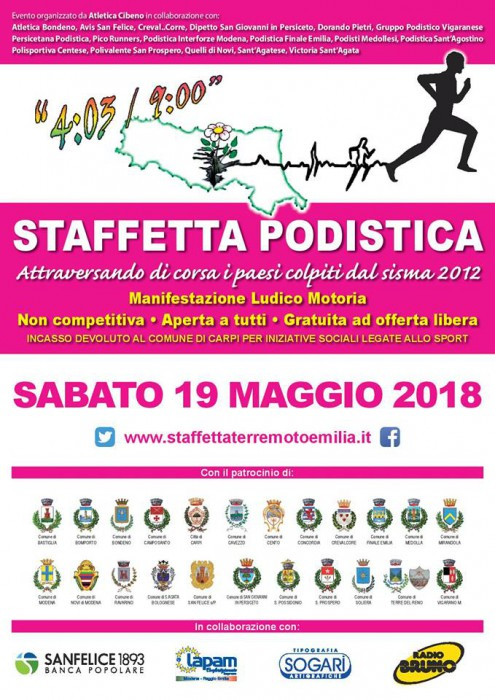 Manifesto Staffetta Terremoto Emilia