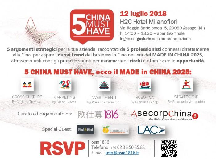 Evento Osm Milano Cina 2