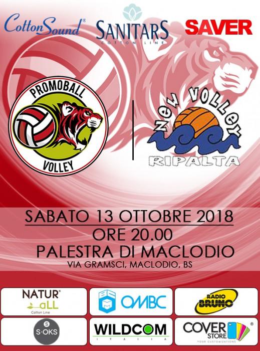 Locandina Promoball match Ribalta