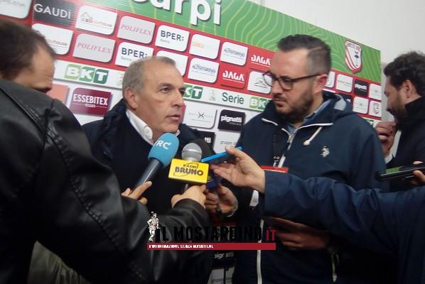 Post-partita di Ascoli-Carpi 1-0, Castori:
