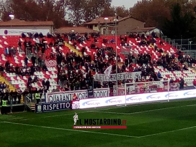 Carpi-Benevento striscione Letizia