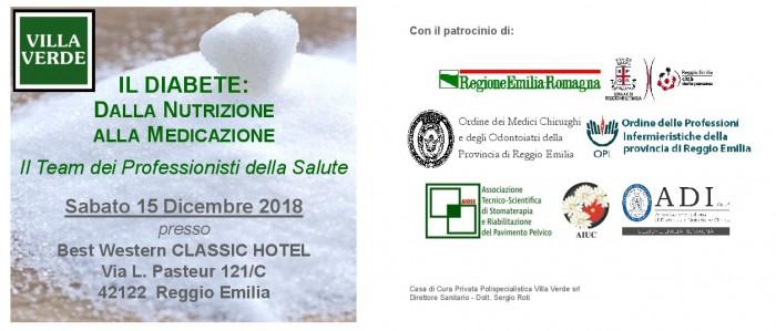 Evento diabete Villa Verde Reggio Emilia