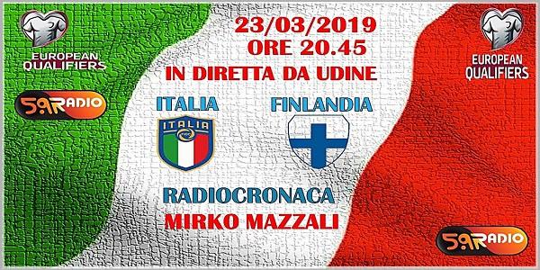 QUESTA SERA ALLE ORE 20.45 SEGUI CON RADIO 5.9 LA GARA ITALIA-FINLANDIA