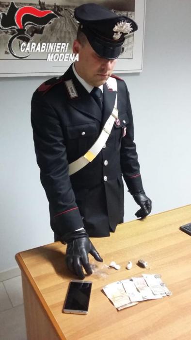 Carabinieri di Carpi arresto tunisino 20enne spaccio droga