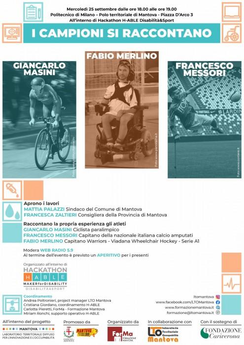 I Campioni si raccontano - Mantova 25 settembre ore 18