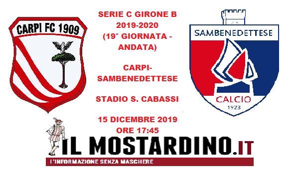 Serie C, l'avversario del Carpi: focus sulla Sambenedettese e sui precedenti