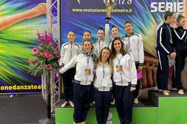 Soddisfazione Ritmica Club Giardino: 2° posto ad Eboli nella 2^ prova del Campionato di Serie B