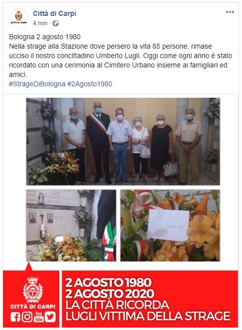 Carpi Strage di Bologna 2 agosto
