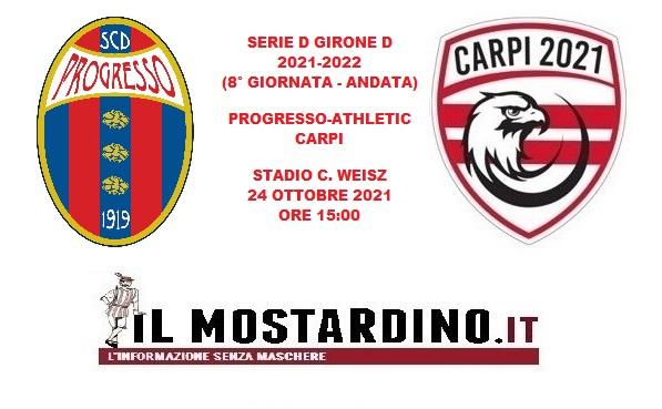 Progresso-Athletic Carpi 1-1: Villanova rimedia all'81' allo screzio di Bagatti jr. Post-partita e pagelle